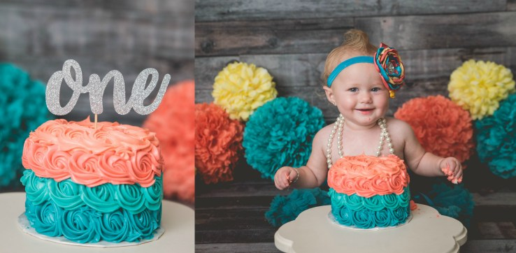Girl Cake Smash Logan Utah Photographer