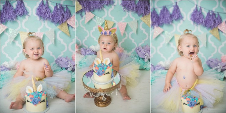 Emma Unicorn Cake Smash Logan Utah Cake Smash Photographer