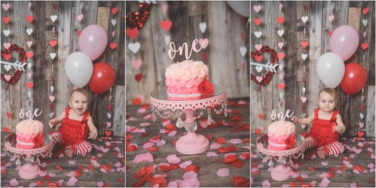 Valentines Themed Cake Smash Logan Utah Cake Smash Photographer