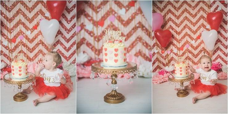 Valentines Themed Cake Smash Northern Utah Cake Smash Photographer
