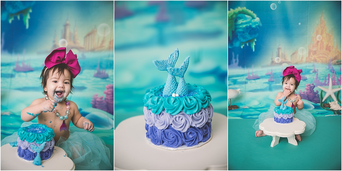 Mermaid Cake Smash Photographer Logan Utah