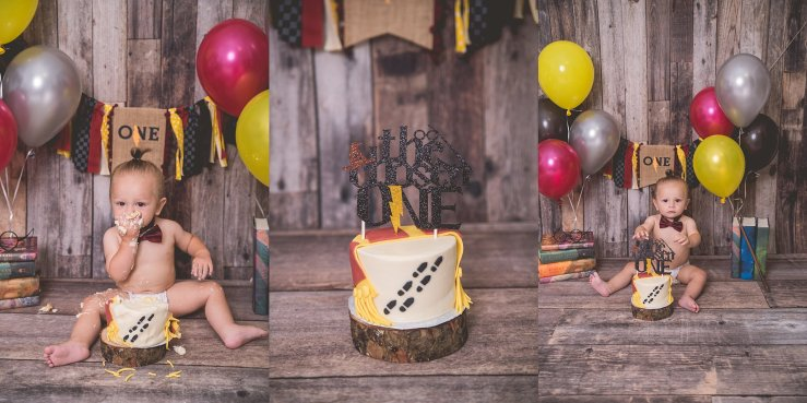 Harry Potter Cake Smash Logan Utah Photographer