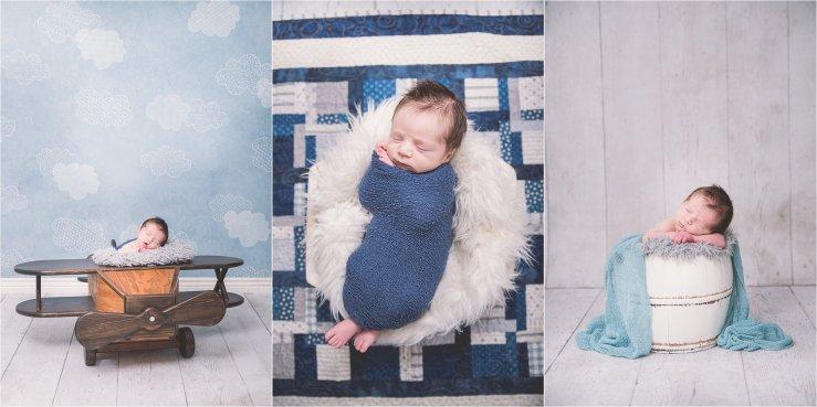 Utah Newborn Photographer Boy Blue