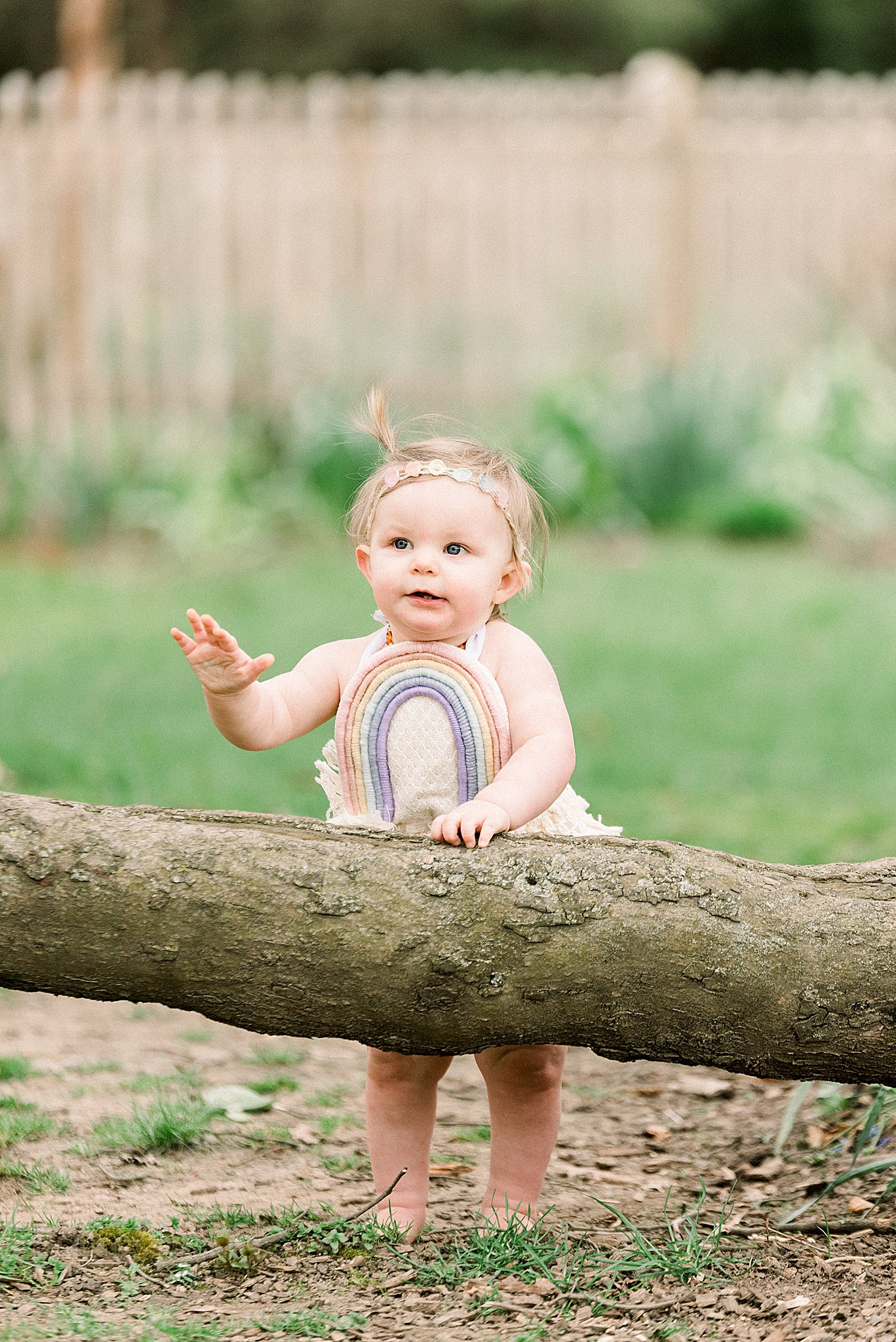 Rainbow baby milestone session