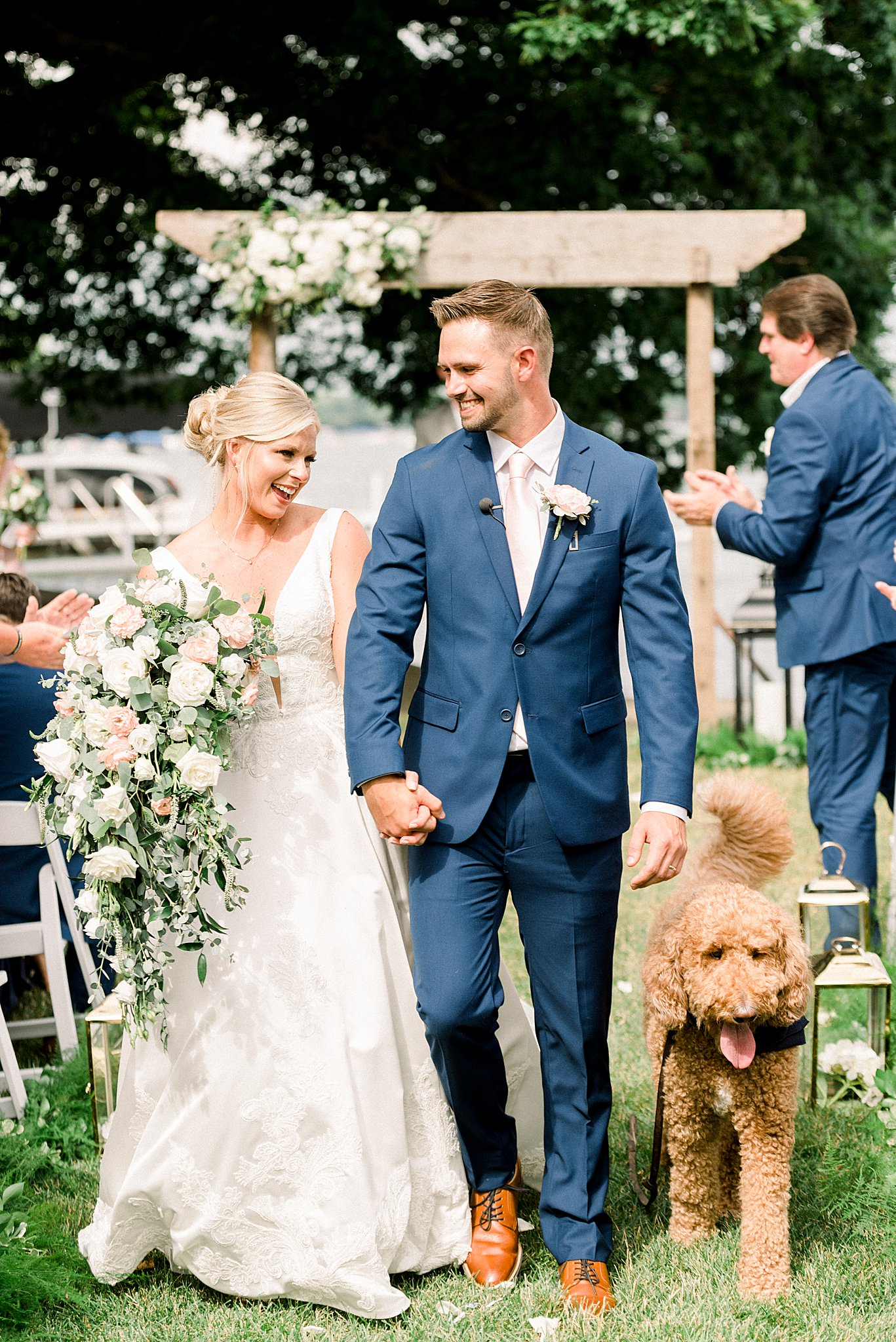 dog in bridal party