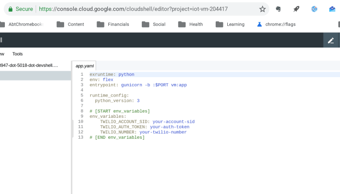 Google Cloud beta code editor