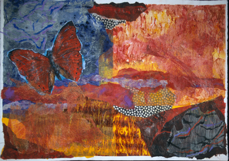 Juillet - 35x47 - Painted Paper Collage