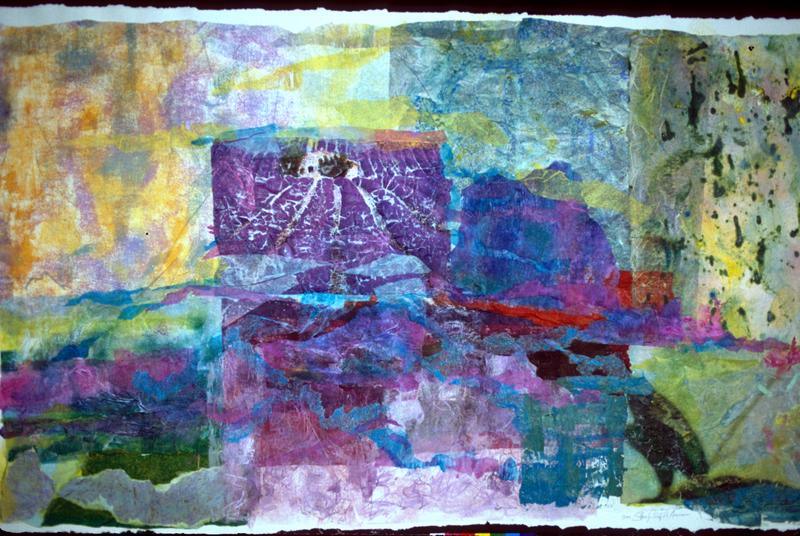 Lavande á Seillans - 35x57 - Painted Paper Collage