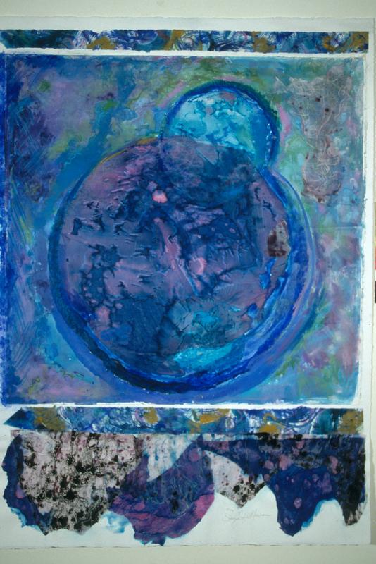 Origine - 47x35 - Handpainted Collage (sold)