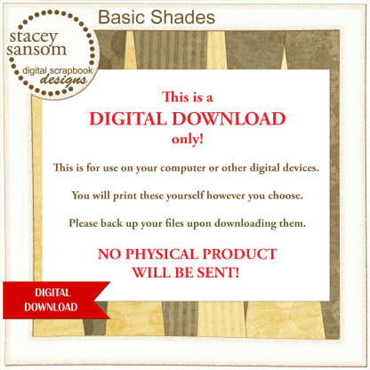 Basic Shades Paper Pack from Stacey Sansom Designs