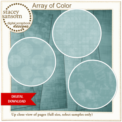 Array of Color Dusty Green Paper Pack from Stacey Sansom