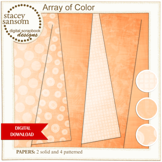 Array of Color Orange Paper Pack from Stacey Sansom Designs