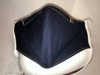 Large Face Mask (Ver 1) - Solid Navy | Stacey Sansom Designs