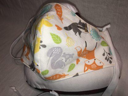 Large Face Mask (Ver 1) - Woodland Animals | Stacey Sansom Designs