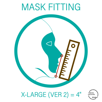 Mask Fitting - Extra Large (Ver 2) Fitted Face Mask | Stacey Sansom Designs