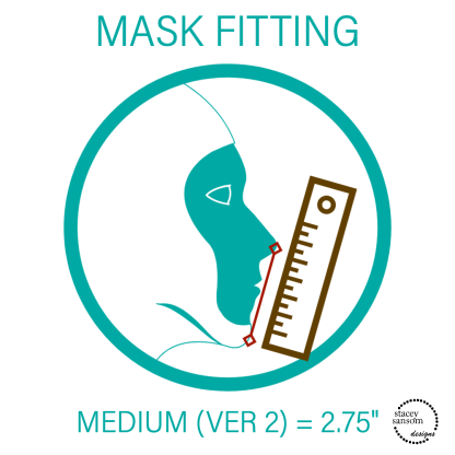 Mask Fitting - Medium Fitted Face Mask   Stacey Sansom Designs