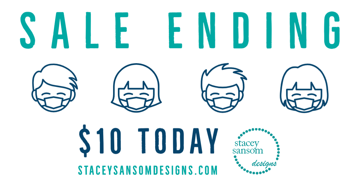 SALE ENDS TODAY (May 1, 2020)   Face Masks   Stacey Sansom Designs