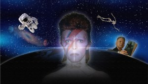 David Bowie Art Creation by Steve Stachini - Starman 120cm x 68cm