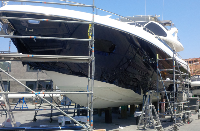 Steve Stachini BIO pic - Yacht Wrapping in Mallorca. A 34m Sunseeker.