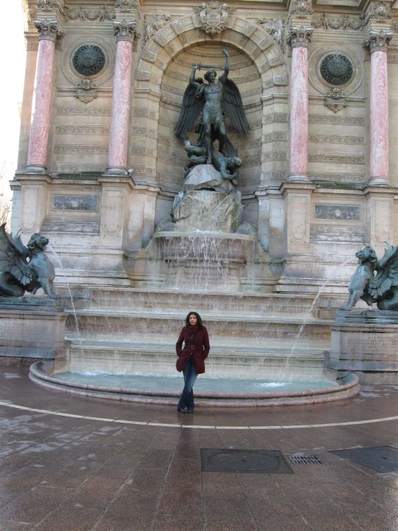 at st. michel fountain