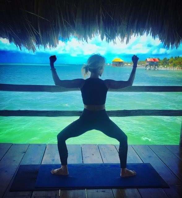 waterfront yoga Belize