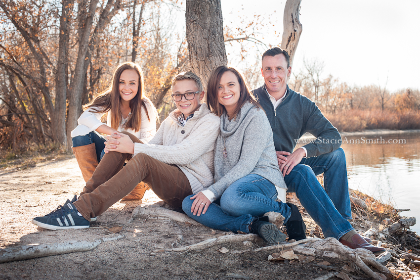 fall family portrait near Denver, Colorado