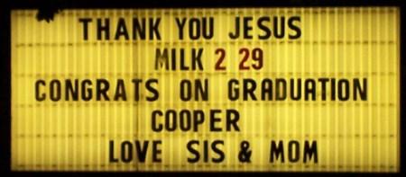 Thank You Milk Congrats Sign