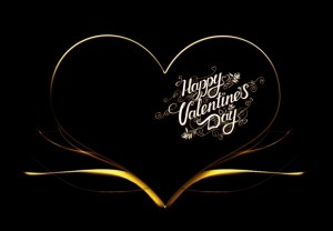 black & gold valentine