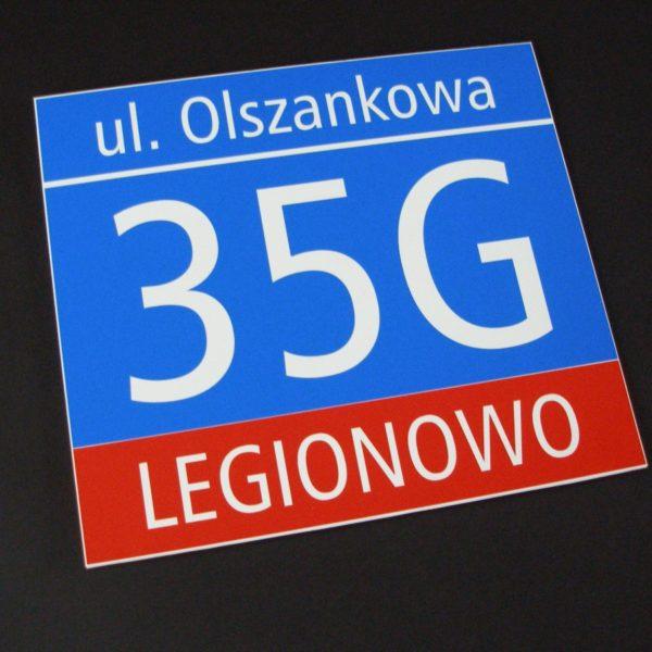 tablice adresowe legionowo