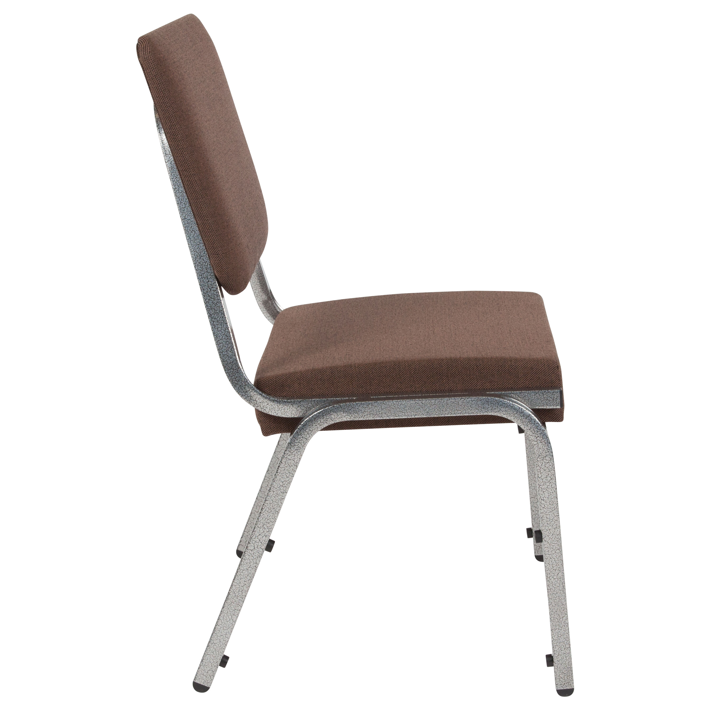 Bariatric Chair Hercules Series 1500 Lb Rated Brown Antimicrobial Fabric Bariatric Chair With 3 4 Panel Back And Silver Vein Frame