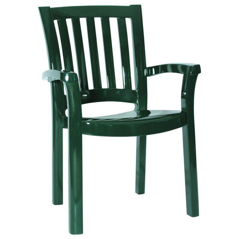 Stackable Plastic Lawn Chairs Green Outdoor Dining Arm Chair Isp015 Gre