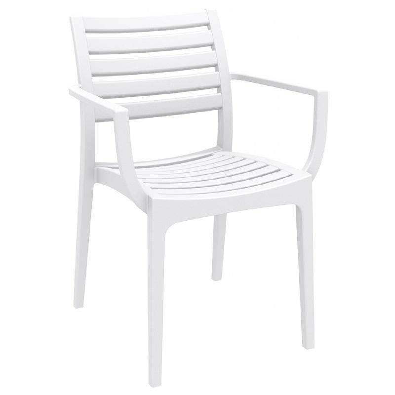White Stackable Chairs White Stacking Dining Arm Chair Isp011 Whi
