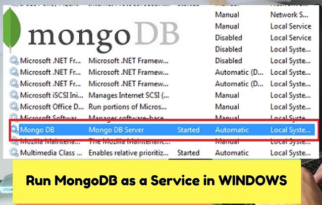 Mongodb windows service