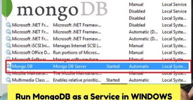 Mongodb windows service