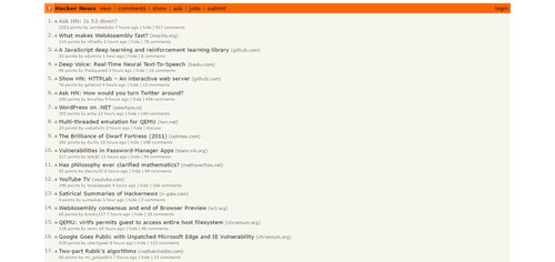 Hacker News - Websites Every Developer Should Visit
