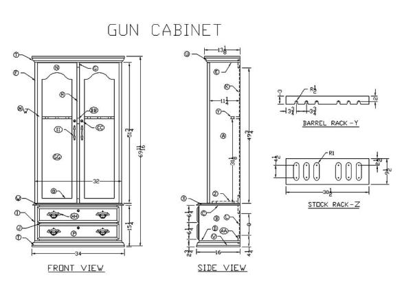 Wood Gun Cabinet Plans
