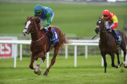 Carlo Biraghi winning at the Curragh