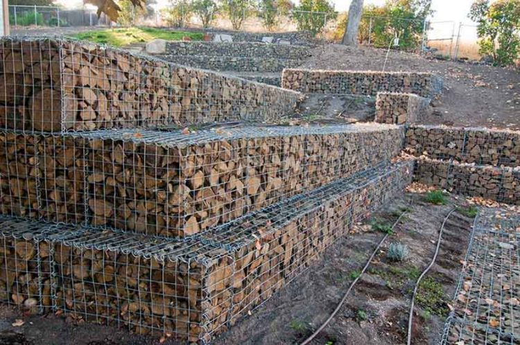 Gabion Wall Foothills Backyard  Stack Rock Group