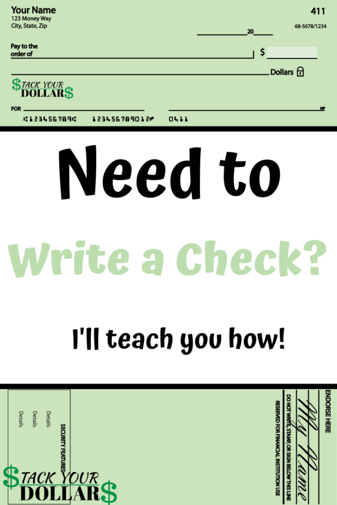 The Parts of a Check and How to Write One Pin