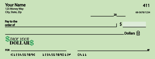 Front Of A Check Sample Illustration