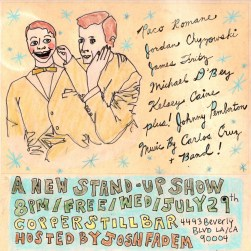 """a new stand-up show"" . 5/10 poster art by stacy elaine dacheux . 2015"