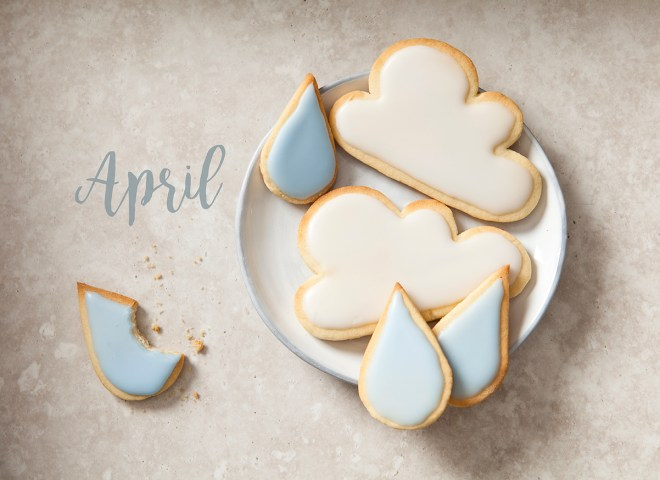 April Shower biscuits by Stacy Grant