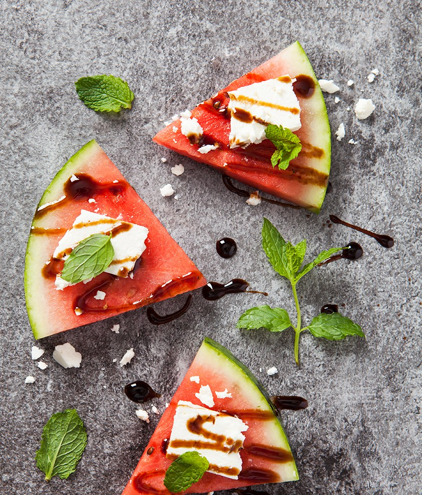 Watermelon Feta and balsamic syrup | Stacy Gran