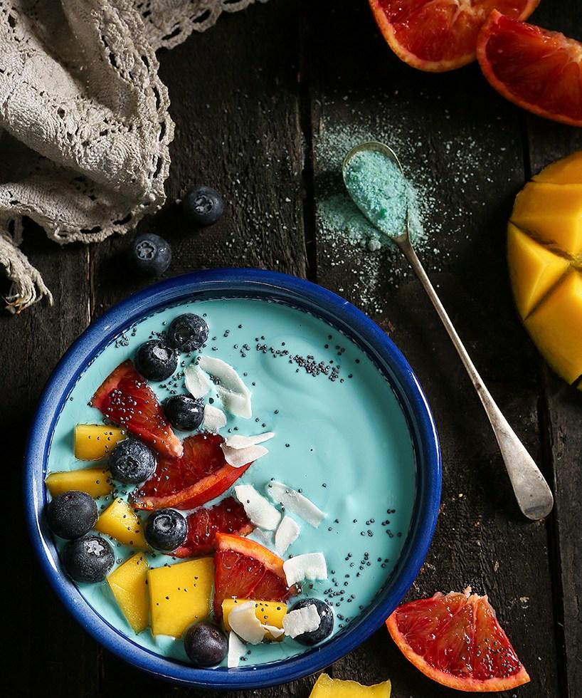 Blue food   Blue Spirulina   Stacy Grant   Food Photographer