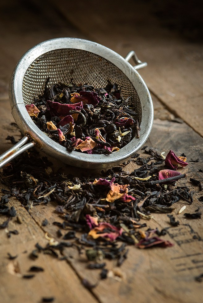 Tea with flower petals | Whittards | Loose Tea | Stacy Grant Food Photographer