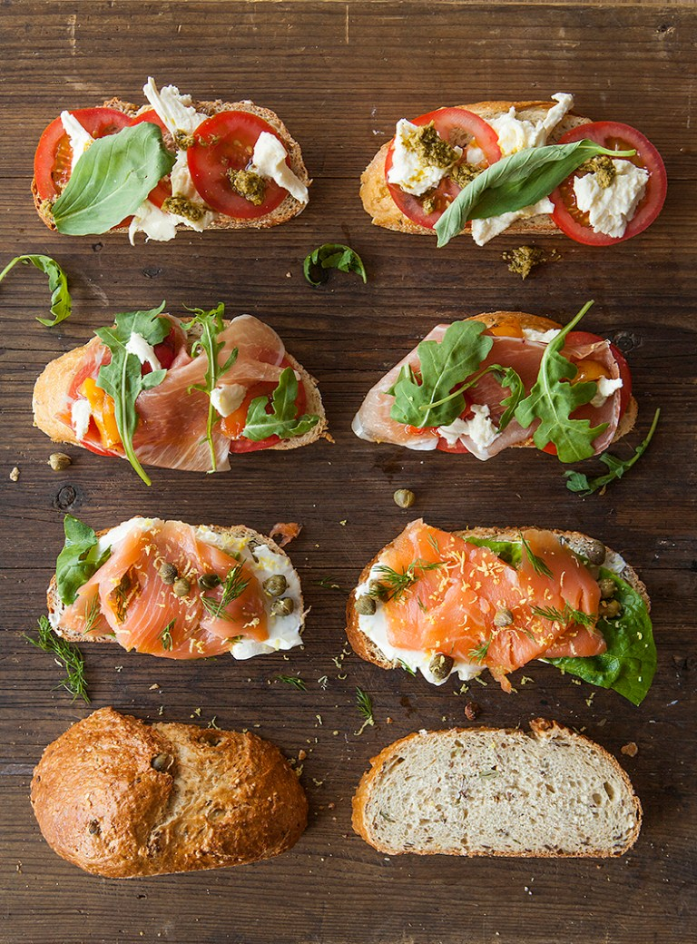 Open Sandwiches | Stacy Grant Food Photography