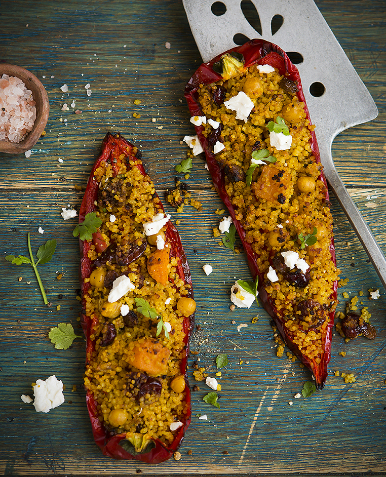 Stuffed Long Peppers | Meat free Monday | Stacy Grant Food Photographer