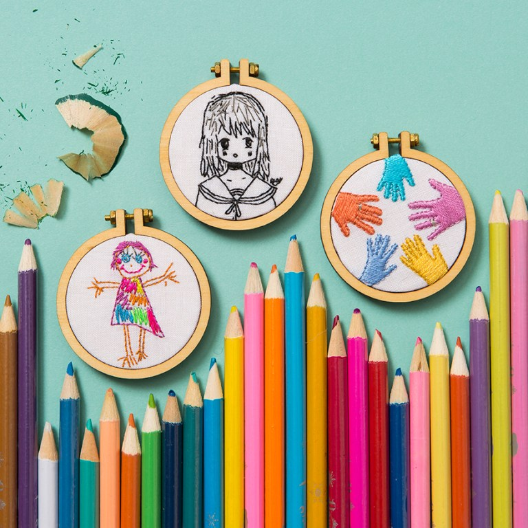 Mini Hoop Embroideries | Dandelyne | Stacy Grant Photography