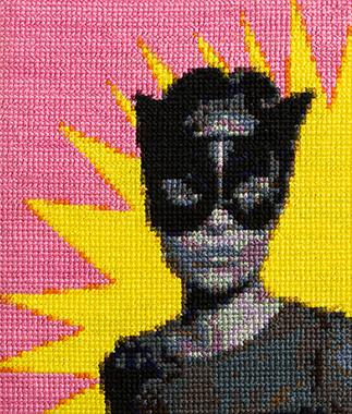 Cat woman | Cross stitch | Leah Emery | Stacy Grant Photography