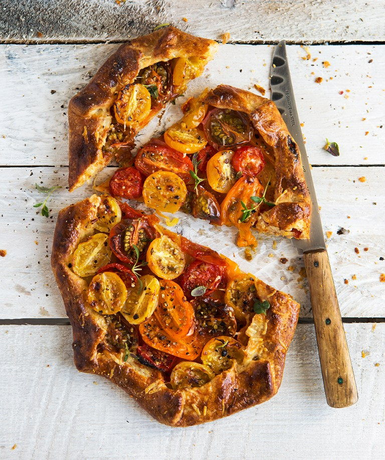 Roasted Tomato Galette | Stacy Grant Food Photographer